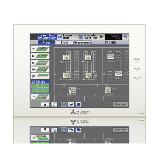 Touch screen centrale bediening (tot 200 binnendelen)