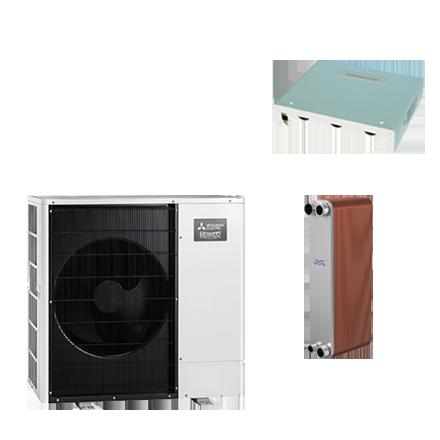 Warmtepomp (lucht/water) split uitvoering